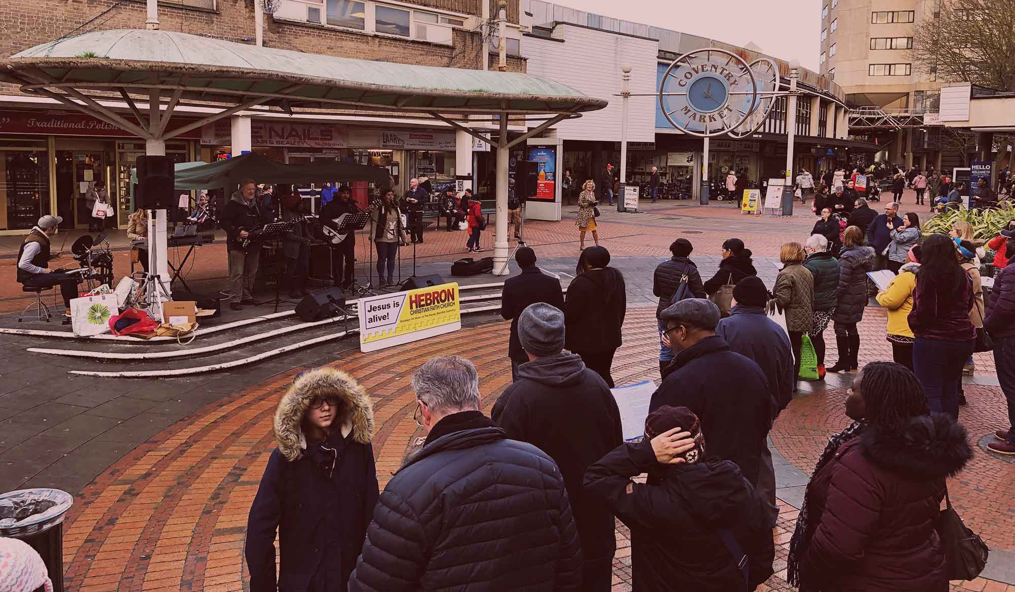 Christian Outreach in Coventry City Centre
