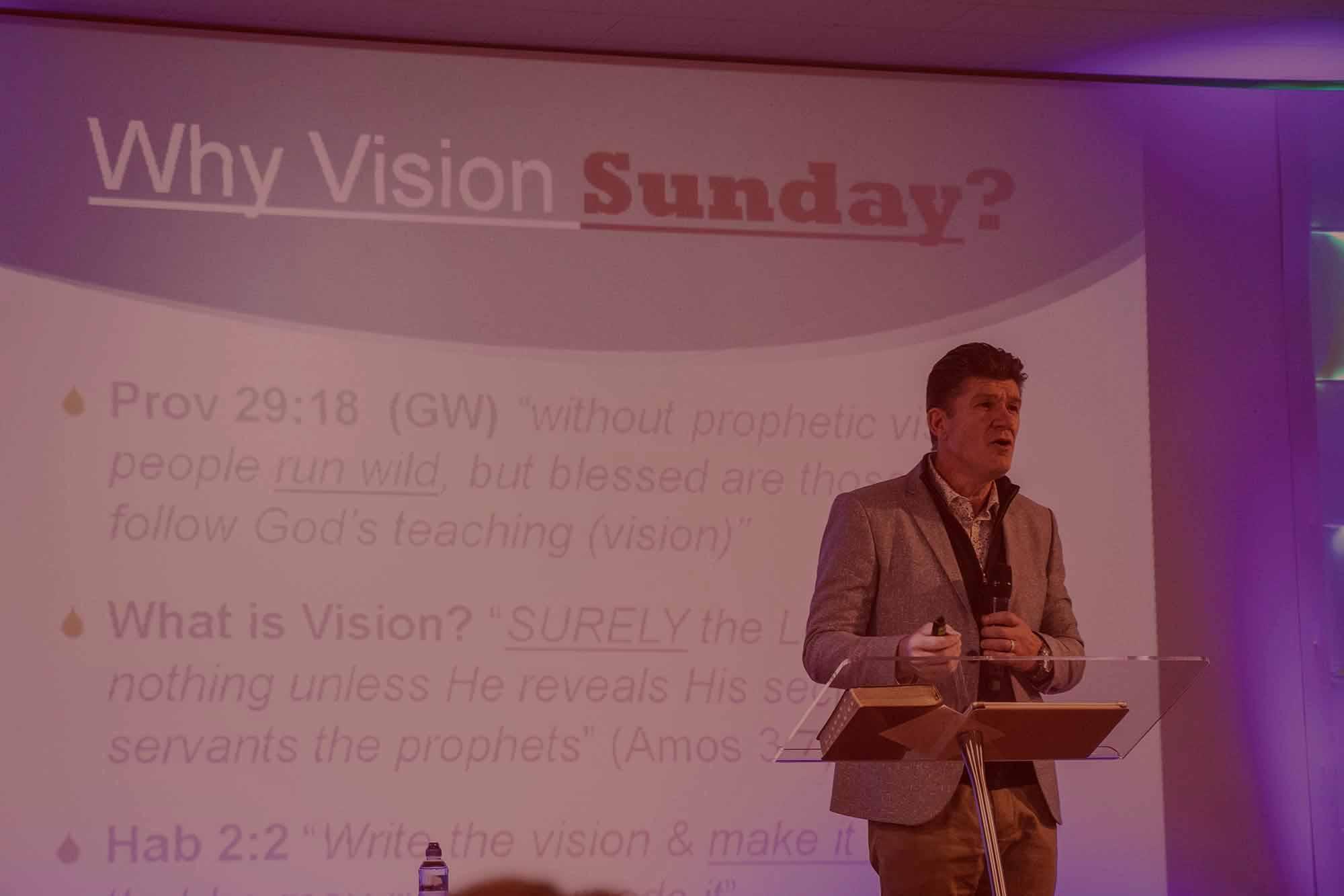 Pastor John Sharing Vision